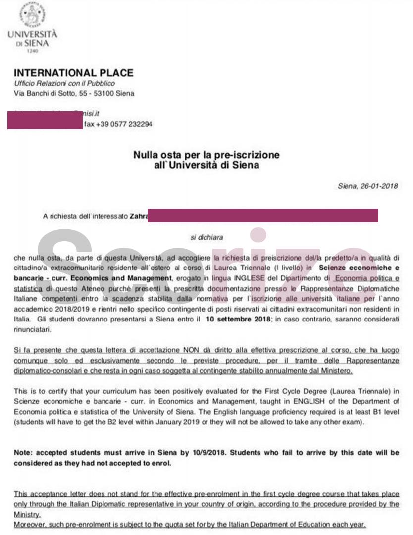پذیرش از دانشگاه ایتالیا